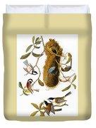 Audubon: Titmouse Duvet Cover