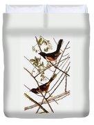 Audubon: Towhee Duvet Cover
