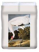 Audubon: Whooping Crane Duvet Cover