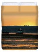 August Dawn At Esopus Light II Duvet Cover
