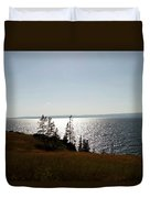 August Evening At Yellowstone Lake Duvet Cover