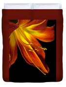 August Flame Glory Watercolor Duvet Cover