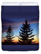 August Pine Clouds Duvet Cover