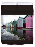 August Rains On The Promenade Duvet Cover