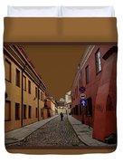 Augustojono Street Duvet Cover