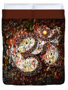 Aum - Cosmic Vibrations  Duvet Cover