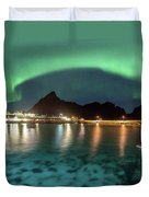 Aurora Above Turquoise Waters Duvet Cover