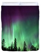 Aurora Boreale In Lapponia Duvet Cover