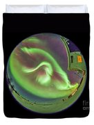 Aurora Borealis Over Churchill Duvet Cover