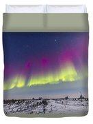 Aurora Borealis Seen From Churchill Duvet Cover