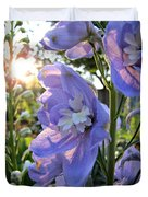 Aurora Light Purple Delphinium And Sunset No. 2 Duvet Cover