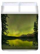 Aurora Over The Forest Duvet Cover