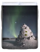 Auroral Christmas Tree Duvet Cover
