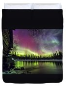 Auroras At The Mill Duvet Cover
