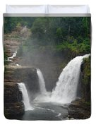 Ausable Chasm Waterfalls Duvet Cover