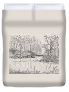 Ausable River At Rock Glen Duvet Cover