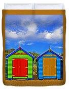 Aussie Beach Boxes Duvet Cover