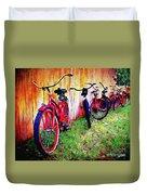 Austin Texas Bikes  -- Original Painting Duvet Cover