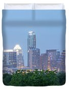 Austin Texas Building Skyline After The The Lights Are On Duvet Cover