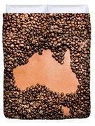 Australia Cafe Artwork Duvet Cover