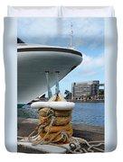 Australia - Cruise Ship Tied Up Duvet Cover