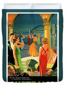 Australia, Romantic Night, Dance And Music, Hotel Terrace Duvet Cover