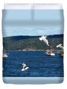 Australia - Seagulls And Trawlers Duvet Cover