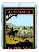 Australia, Shepherd Duvet Cover