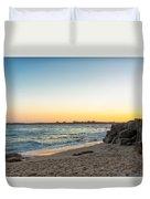 Australian Beach Sunset Duvet Cover