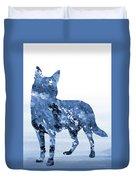 Australian Kelpie-blue Duvet Cover