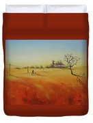 Australian Outback Painting The Way Home  Duvet Cover