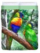 Australian Parakeets Duvet Cover