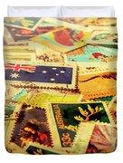 Australian Postal Background Duvet Cover