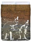 Australian Red Kangaroos Duvet Cover