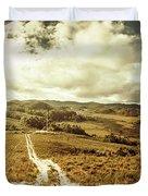 Australian Rural Panoramic Landscape Duvet Cover