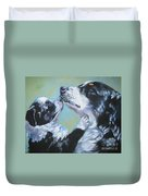 Australian Shepherd Mom And Pup Duvet Cover