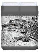 Australian Shy Crocodile  Duvet Cover