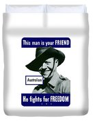 Australian This Man Is Your Friend  Duvet Cover