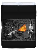Australopithecus And The Dragon Duvet Cover