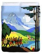 Austria Vintage Travel Poster Duvet Cover