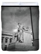 Authority Statue At The Courthouse In Memphis Tennessee Duvet Cover