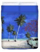 Auto Sulla Spiaggia Duvet Cover
