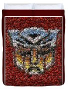 Autobot Transformer Bottle Cap Mosaic Duvet Cover