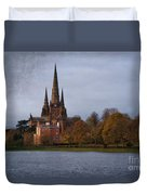 Autumn Lichfield Cathedral Duvet Cover