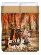 Autumn - People - A Walk In The Countryside Duvet Cover