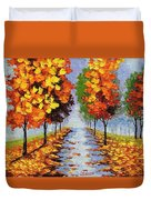 Autumn Alley Duvet Cover