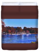 Autumn Along Lake Candlewood - Connecticut Duvet Cover