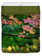 Autumn Along The Branch Duvet Cover