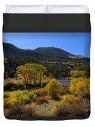 Autumn Along The Rio Grande Duvet Cover