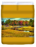 Autumn Along The River Duvet Cover
